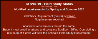 Field Study (Social Ecology 195 and 195W) - Student ...