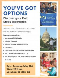 You Got Options: Discover your Field Study Experience!